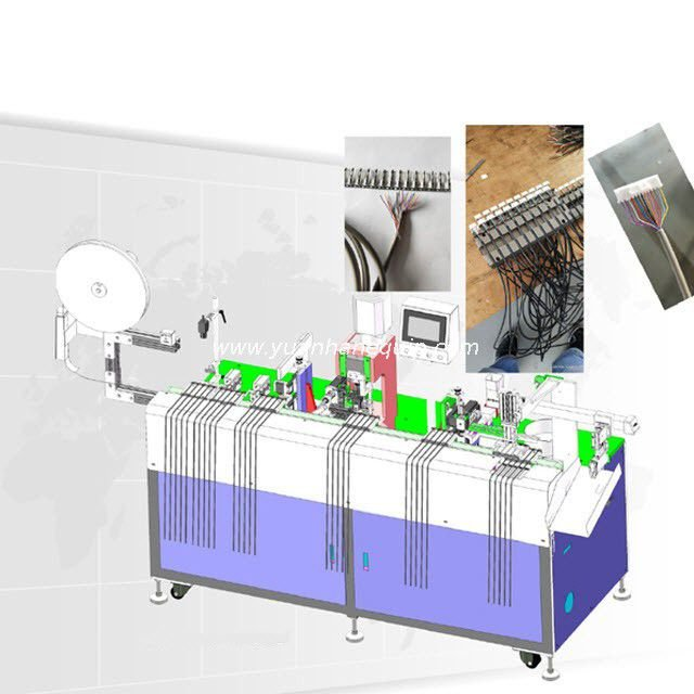 Multi-core Cable Stripping Crimping & Housing Connector Inserting Machine