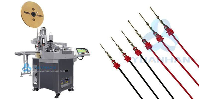 Fully Automatic Wire Rubber Seals-crimping Machine