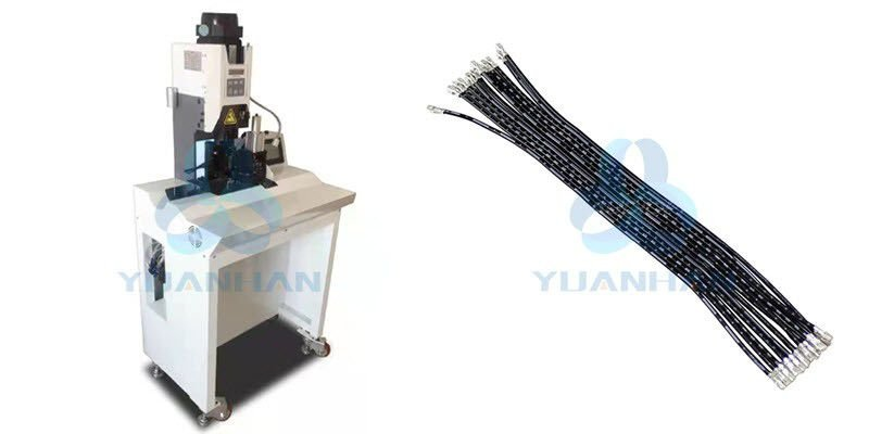 flat ribbon cable stripping separating and crimping machine